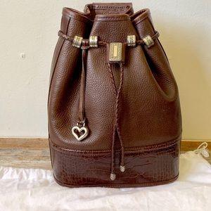 Vintage Brighton leather drawstring shoulder bag